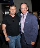 Actor Stephen Baldwin and founder of The Cinema Society Andrew Saffir attend the after party for a screening of 'The Whistleblower' hosted by the...