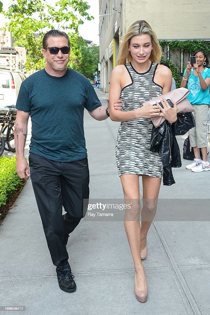 Actor Stephen Baldwin (L) and Hailey Baldwin enters their Soho hotel on May 29, 2013 in New York City.