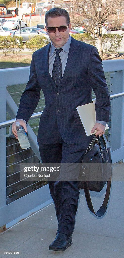 Actor <a gi-track='captionPersonalityLinkClicked' href=/galleries/search?phrase=Stephen+Baldwin&family=editorial&specificpeople=213776 ng-click='$event.stopPropagation()'>Stephen Baldwin</a> arrives at Rockland County Courthouse on March 29, 2013 in New City, New York. Baldwin, a contestant on 'All-Star Celebrity Apprentice', pleaded guilty to a charge of failing to file income tax returns from 2008-2010 and faces up to four years in prison if convicted.