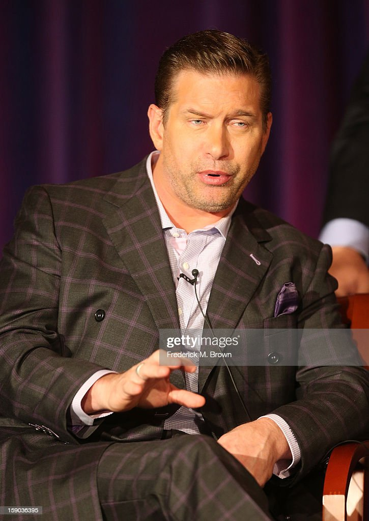 Actor Stephen Baldwin speaks onstage at the 'All Star Celebrity Apprentice' breakfast session during the NBCUniversal portion of the 2013 Winter TCA Tour- Day 3 at the Langham Hotel on January 6, 2013 in Pasadena, California.