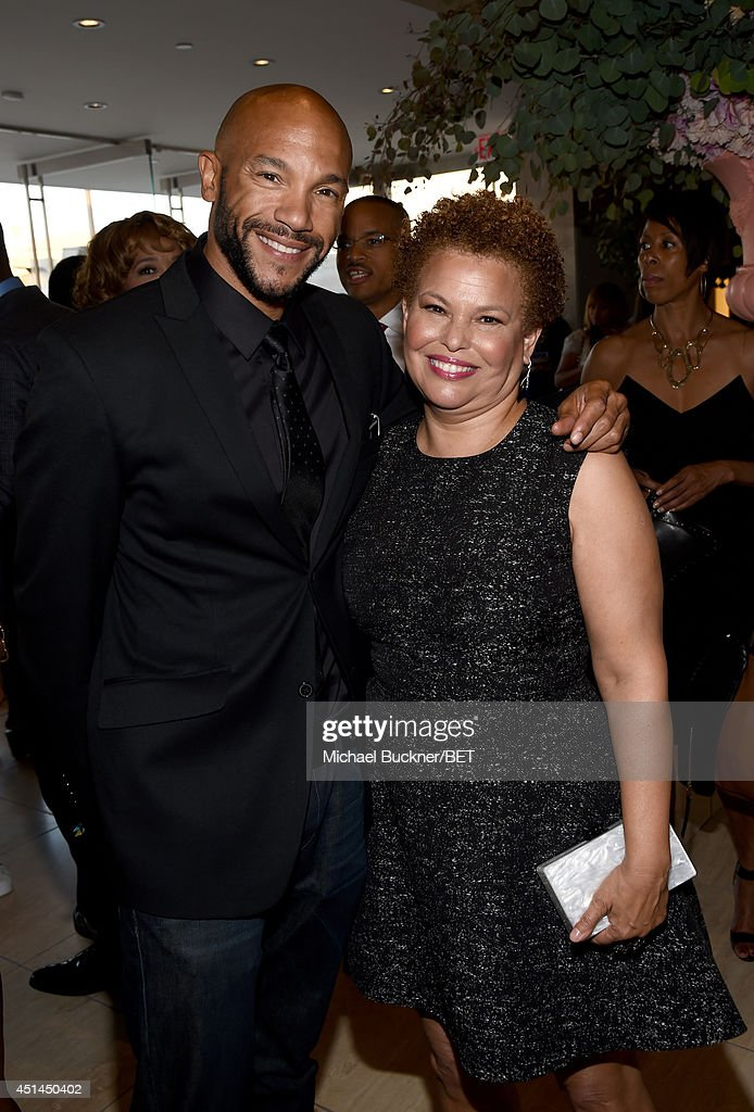 Actor <a gi-track='captionPersonalityLinkClicked' href=/galleries/search?phrase=Stephen+Bishop+-+Actor&family=editorial&specificpeople=12938563 ng-click='$event.stopPropagation()'>Stephen Bishop</a> (L) and BET Networks Chairman & CEO <a gi-track='captionPersonalityLinkClicked' href=/galleries/search?phrase=Debra+L.+Lee&family=editorial&specificpeople=555541 ng-click='$event.stopPropagation()'>Debra L. Lee</a> attend the BET AWARDS '14 Debra Lee's Pre-Dinner held at Milk Studios on June 28, 2014 in Los Angeles, California.