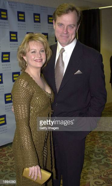 Actor Stephen Collins and his wife Fay Grant arrive at the 10th Annual Human Rights Campaign Gala February 17 2001 in Los Angeles CA