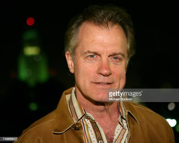 Actor Stephen Collins poses in front of City Hall at the kick off of 'Live Earth' by turning the lights of City Hall green at the Department of Water...