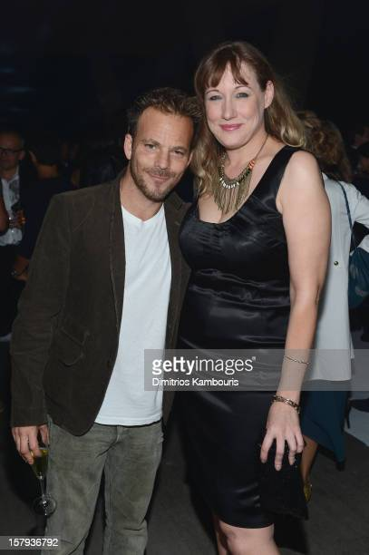 Actor Stephen Dorff and Amy Sacco attends a private dinner celebrating Remo Ruffini and Moncler's 60th Anniversary during Art Basel Miami Beach on...