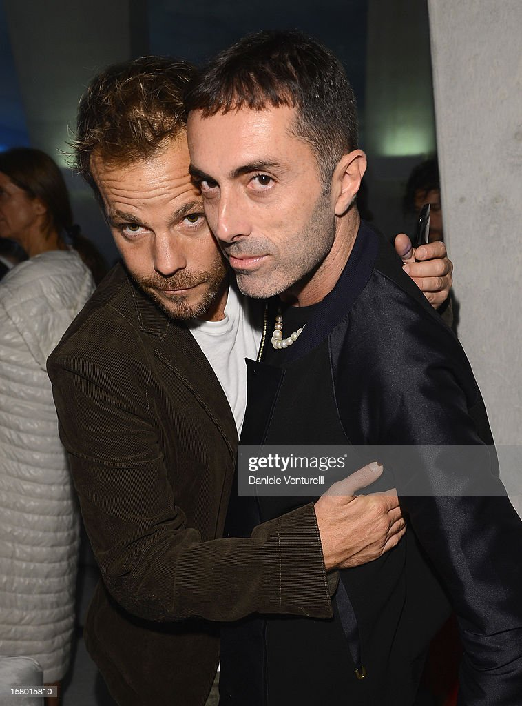 Actor Stephen Dorff and designer Giambattista Valli attend a party as Moncler Celebrates Its 60th Anniversary At Art Basel Miami Beach on December 7, 2012 in Miami Beach, Florida.