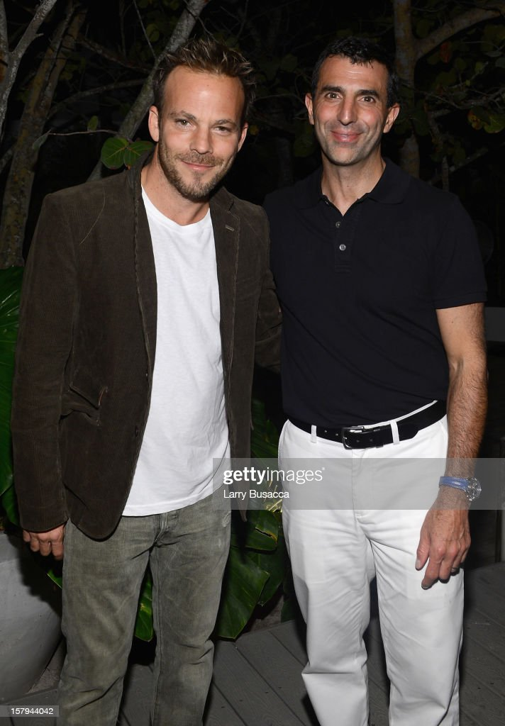 Actor Stephen Dorff and Giulio Capua of Architectural Digest attend to AD Oasis & Sunbrella host Cocktail Party Celebrating AD100 Designer Mark Cunningham at The Raleigh on December 7, 2012 in Miami, Florida.