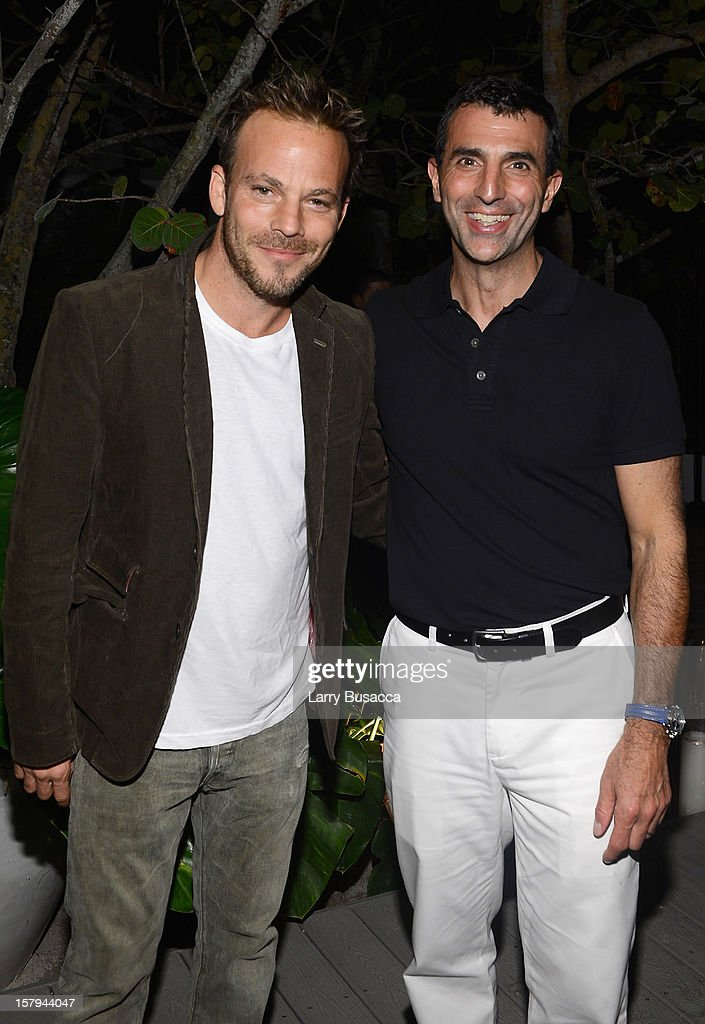 Actor <a gi-track='captionPersonalityLinkClicked' href=/galleries/search?phrase=Stephen+Dorff&family=editorial&specificpeople=206430 ng-click='$event.stopPropagation()'>Stephen Dorff</a> and Giulio Capua of Architectural Digest attend to AD Oasis & Sunbrella host Cocktail Party Celebrating AD100 Designer Mark Cunningham at The Raleigh on December 7, 2012 in Miami, Florida.