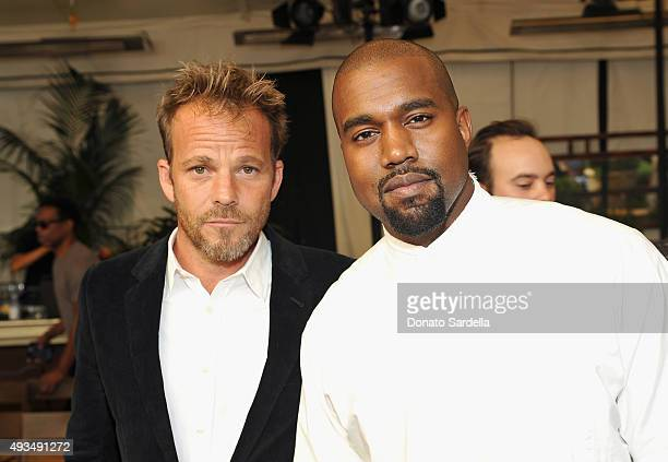 Actor Stephen Dorff and recording artist Kanye West attend CFDA/Vogue Fashion Fund Show and Tea at Chateau Marmont on October 20 2015 in Los Angeles...