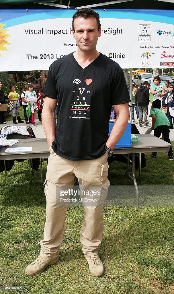 Actor Stephen Dunlevy of the cast of Starz 'Spartacus: War Of The Damned' lend support at the 2013 Visual Impact Now Annual Eye Clinic Event on March 20, 2013 in Los Angeles, California.