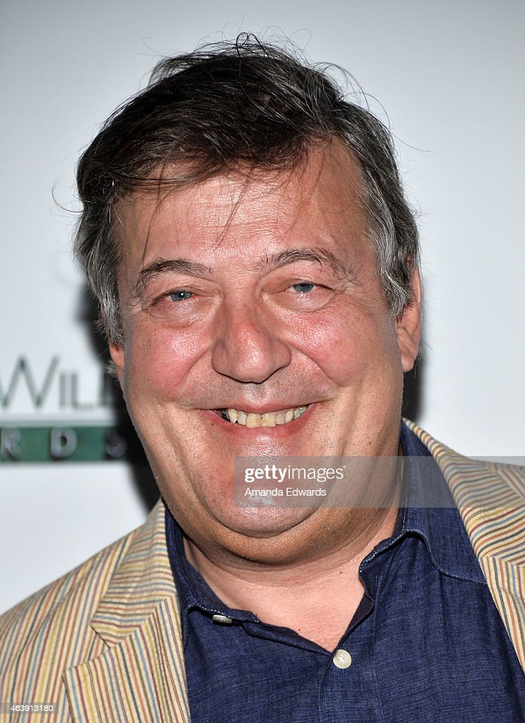 Actor <a gi-track='captionPersonalityLinkClicked' href=/galleries/search?phrase=Stephen+Fry&family=editorial&specificpeople=210809 ng-click='$event.stopPropagation()'>Stephen Fry</a> arrives at the US-Ireland Alliance Pre-Academy Awards Honors event at Bad Robot on February 19, 2015 in Santa Monica, California.