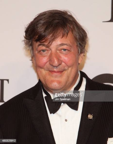 Actor Stephen Fry attends American Theatre Wing's 68th Annual Tony Awards at Radio City Music Hall on June 8 2014 in New York City