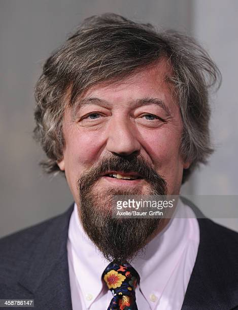 Actor Stephen Fry attends the premiere of 'The Hobbit The Desolation Of Smaug' at TCL Chinese Theatre on December 2 2013 in Hollywood California