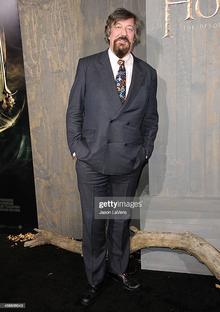 Actor <a gi-track='captionPersonalityLinkClicked' href=/galleries/search?phrase=Stephen+Fry&family=editorial&specificpeople=210809 ng-click='$event.stopPropagation()'>Stephen Fry</a> attends the premiere of 'The Hobbit: The Desolation Of Smaug' at TCL Chinese Theatre on December 2, 2013 in Hollywood, California.