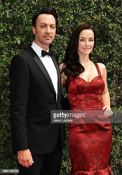 Actor Stephen Full and actress Annie Wersching attend the 2015 Creative Arts Emmy Awards at Microsoft Theater on September 12 2015 in Los Angeles...