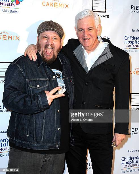 Actor Stephen Kramer Glickman and actor Steve Tom at the Super Sweet Toy Drive Benefiting Children's Hospital Los Angeles held at Cake Mix on March...