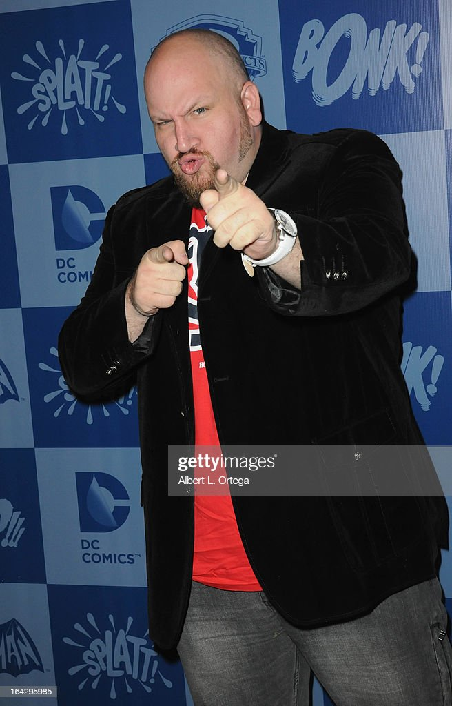 Actor Stephen Kramer Glickman attends the Warner Bros. Consumer Products And Junk Food Celebrate The Launch Of The Batman Classic TV Series Licensing Program held at Meltdown Comics and Collectibles on March 21, 2013 in Hollywood, California.