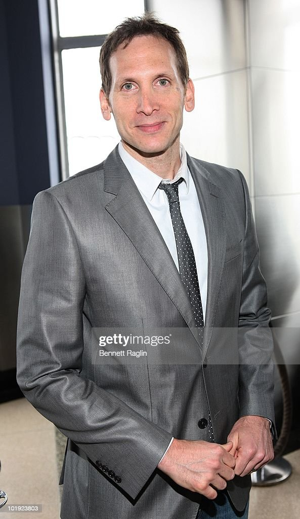 Actor Stephen Kunken poses as Tony Award nominees visit The Empire State Building on June 9, 2010 in New York City.
