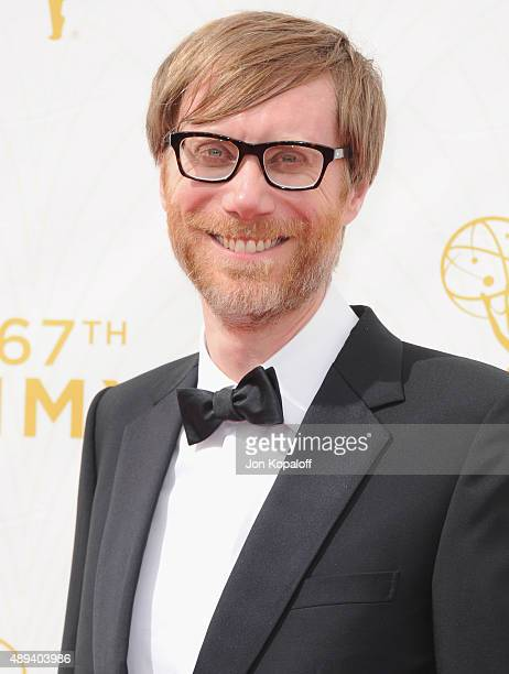 Actor Stephen Merchant arrives at the 67th Annual Primetime Emmy Awards at Microsoft Theater on September 20 2015 in Los Angeles California