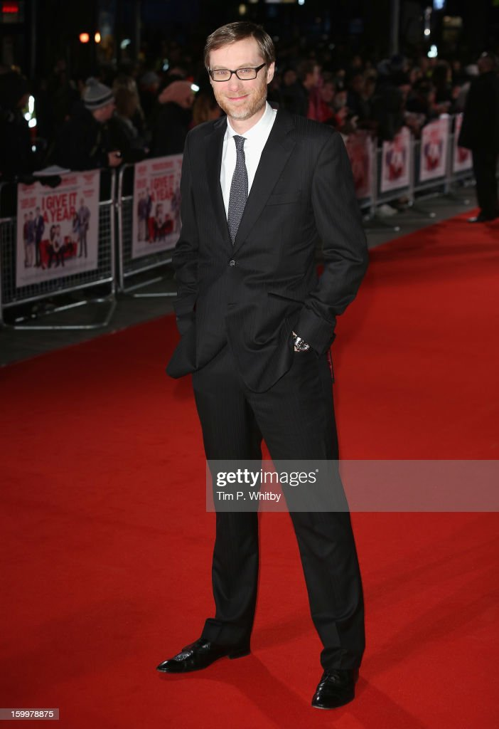 Actor <a gi-track='captionPersonalityLinkClicked' href=/galleries/search?phrase=Stephen+Merchant&family=editorial&specificpeople=646779 ng-click='$event.stopPropagation()'>Stephen Merchant</a> attends the UK Premiere of 'I Give It A Year' at the Vue West End on January 24, 2013 in London, England.