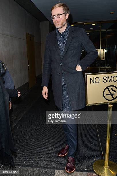 Actor Stephen Merchant leaves the 'Today Show' taping at the NBC Rockefeller Center Studios on November 20 2014 in New York City