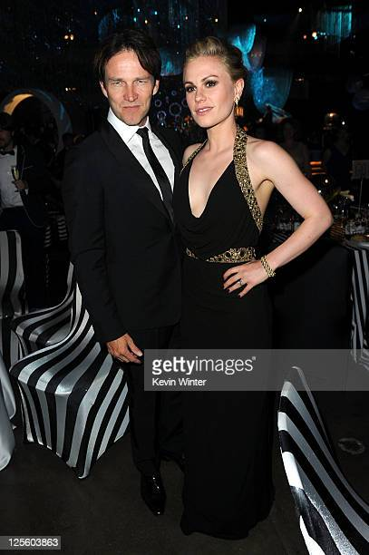 Actor Stephen Moyer and actress Anna Paquin attend the Governor's Ball during 63rd Annual Primetime Emmy Awards held at Los Angeles Convention Center...