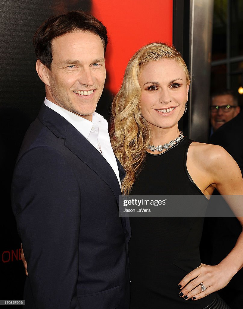 Actor <a gi-track='captionPersonalityLinkClicked' href=/galleries/search?phrase=Stephen+Moyer&family=editorial&specificpeople=4323688 ng-click='$event.stopPropagation()'>Stephen Moyer</a> and actress <a gi-track='captionPersonalityLinkClicked' href=/galleries/search?phrase=Anna+Paquin&family=editorial&specificpeople=211602 ng-click='$event.stopPropagation()'>Anna Paquin</a> attend the season 6 premiere of HBO's 'True Blood' at ArcLight Cinemas Cinerama Dome on June 11, 2013 in Hollywood, California.