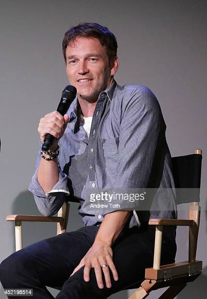 Actor Stephen Moyer attends Apple Store Soho Presents Meet The Cast Stephen Moyer And Anna Paquin 'True Blood' on July 15 2014 in New York City