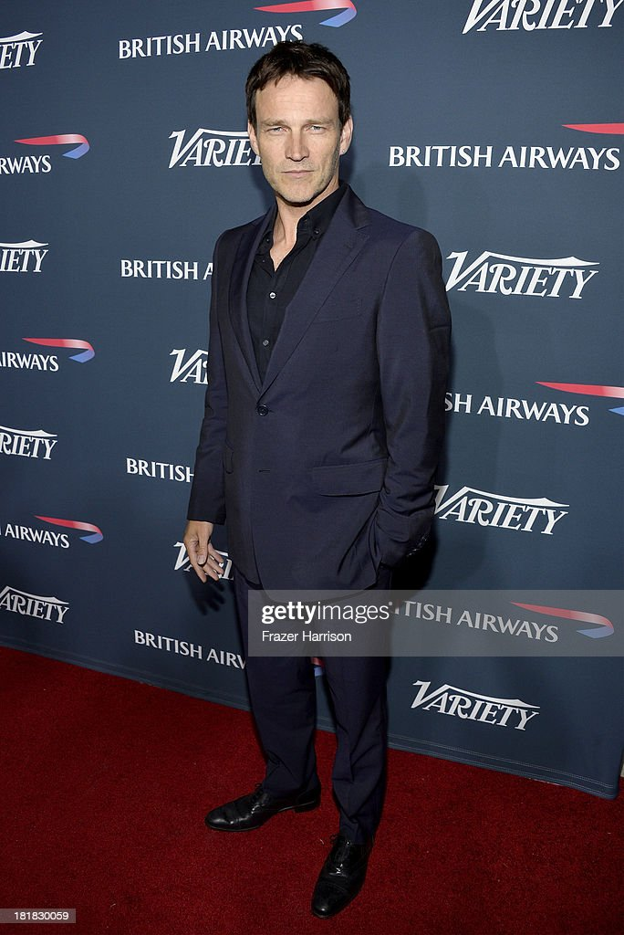 Actor <a gi-track='captionPersonalityLinkClicked' href=/galleries/search?phrase=Stephen+Moyer&family=editorial&specificpeople=4323688 ng-click='$event.stopPropagation()'>Stephen Moyer</a> attends British Airways and Variety Celebrate The Inaugural A380 Service Direct from Los Angeles to London and Discover Variety's 10 Brits to Watch on September 25, 2013 in Los Angeles, California.