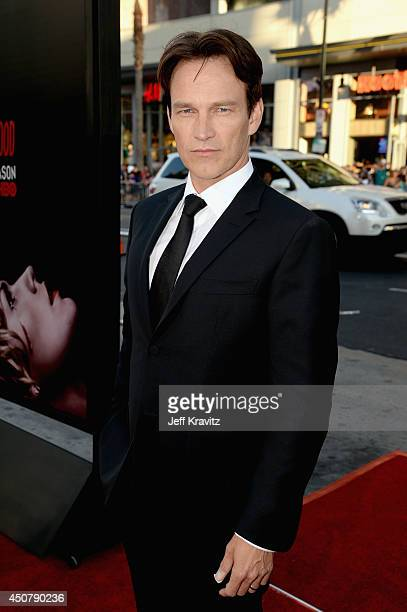 Actor Stephen Moyer attends HBO 'True Blood' season 7 premiere at TCL Chinese Theatre on June 17 2014 in Hollywood California