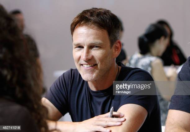Actor Stephen Moyer attends HBO's 'True Blood' cast autograph signing during ComicCon 2014 on July 26 2014 in San Diego California