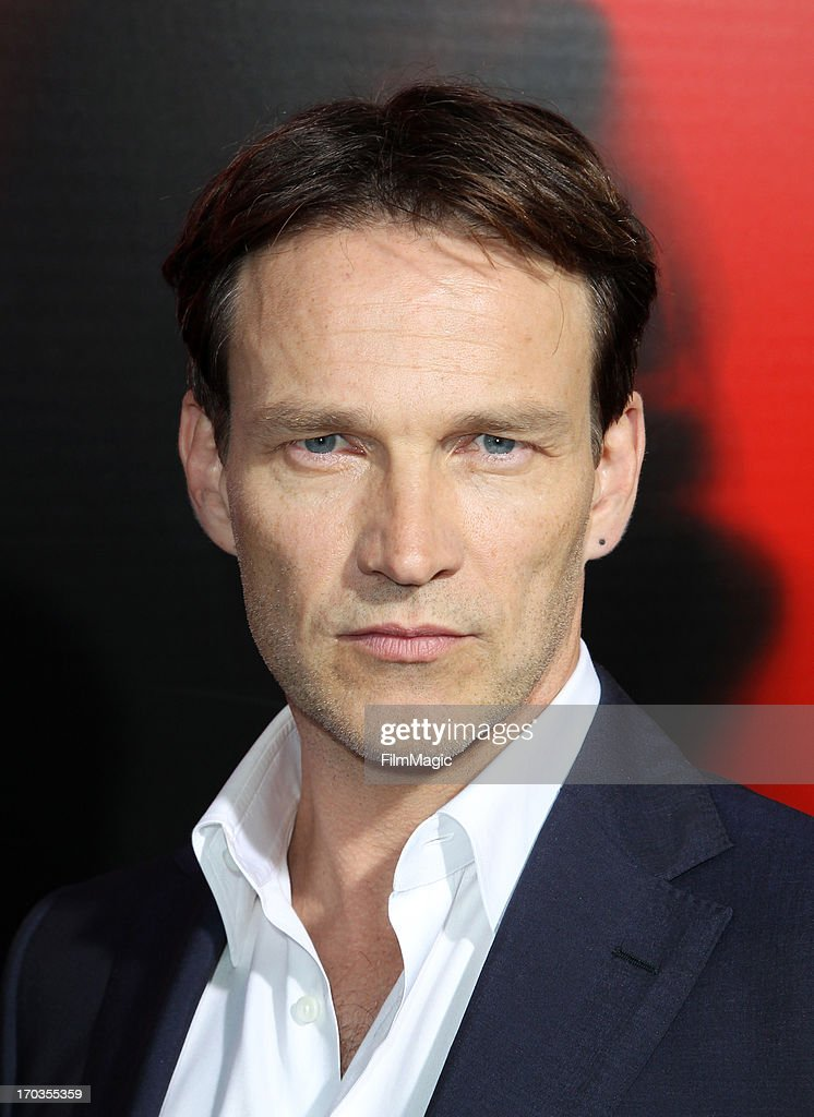 Actor <a gi-track='captionPersonalityLinkClicked' href=/galleries/search?phrase=Stephen+Moyer&family=editorial&specificpeople=4323688 ng-click='$event.stopPropagation()'>Stephen Moyer</a> attends HBO's 'True Blood' season 6 premiere at ArcLight Cinemas Cinerama Dome on June 11, 2013 in Hollywood, California.