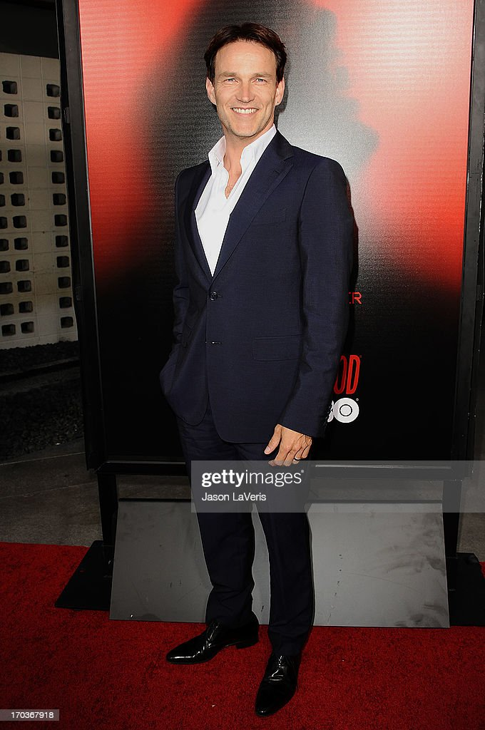 Actor Stephen Moyer attends the season 6 premiere of HBO's 'True Blood' at ArcLight Cinemas Cinerama Dome on June 11, 2013 in Hollywood, California.