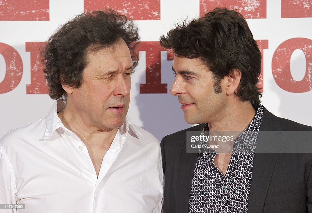 Actor Stephen Rea and actor Eduardo Noriega attend 'Blackthorn Sin Destino' premiere at the Capitol cinema on June 29 2011 in Madrid Spain