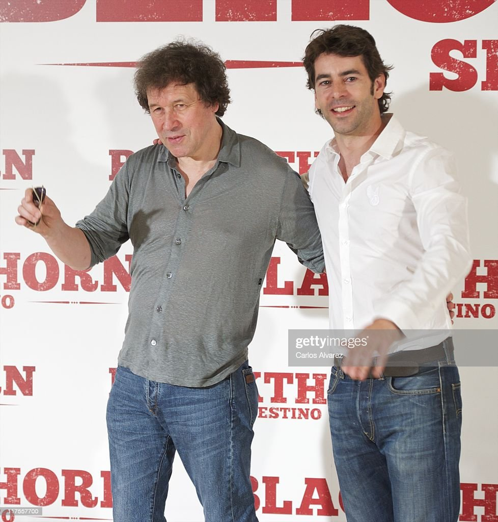 Actor Stephen Rea and Spanish actor Eduardo Noriega attend 'Blackthorn Sin Destino' photocall at the Princesa cinema on June 28 2011 in Madrid Spain