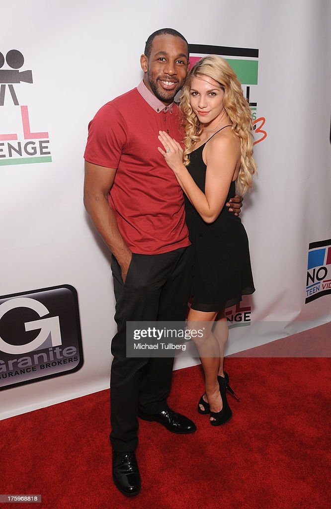 Actor Stephen 'tWitch' Boss and dancer Allison Holker attend the 2013 No Bull Teen Video Awards at Westin LAX Hotel on August 10, 2013 in Los Angeles, California.