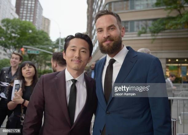 Actor Stephen Yeun and CoProducer Sandro Kopp attend 'Okja' New York Premiere at AMC Loews Lincoln Square 13 on June 8 2017 in New York City