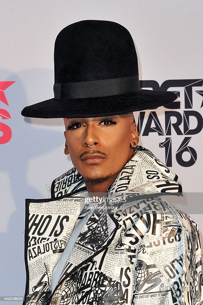 Actor Stephon Mendoza of 'F In Fabulous' poses for pictures in the press room during the 2016 BET Awards at Microsoft Theater on June 26, 2016 in Los Angeles, California.