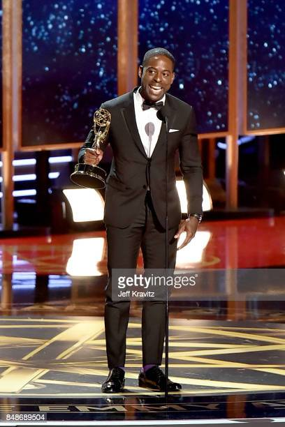 Actor Sterling K Brown accepts the Outstanding Lead Actor in a Drama Series award for 'This Is Us' onstage during the 69th Annual Primetime Emmy...