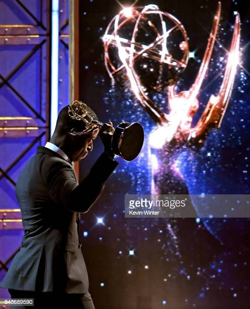 Actor Sterling K Brown accepts the Outstanding Lead Actor in a Drama Series for 'This Is Us' onstage during the 69th Annual Primetime Emmy Awards at...