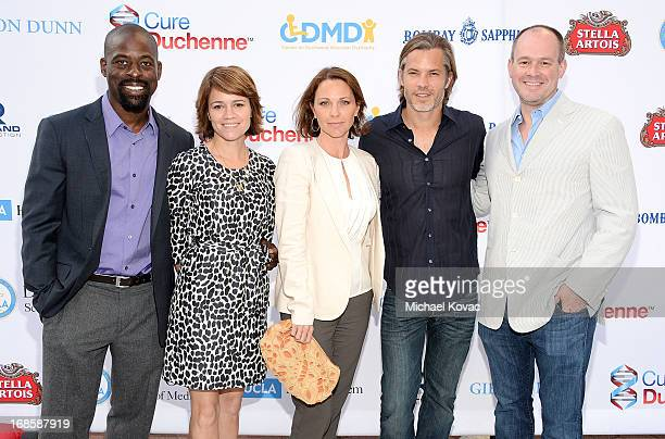 Actor Sterling K Brown actress Anna Belknap actress Kelli Williams actor Timothy Olyphant and journalist Rich Eisen attend the 6th Annual Dealing For...