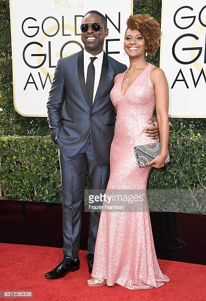 Actor Sterling K Brown and Ryan Michelle Bathe attend the 74th Annual Golden Globe Awards at The Beverly Hilton Hotel on January 8 2017 in Beverly...