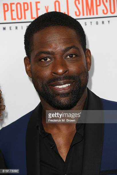 Actor Sterling K Brown attends the FX's For Your Consideration Event for 'The People v OJ Simpson American Crime Story' at The Theatre at Ace Hotel...