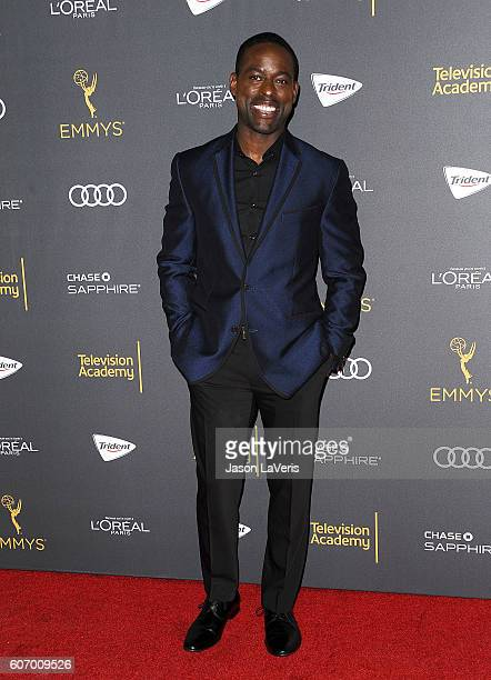 Actor Sterling K Brown attends the Television Academy reception for Emmy nominated performers at Pacific Design Center on September 16 2016 in West...