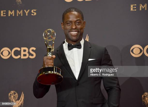 Actor Sterling K Brown winner of Outstanding Lead Actor in a Drama Series for 'This Is Us' poses in the press room during the 69th Annual Primetime...