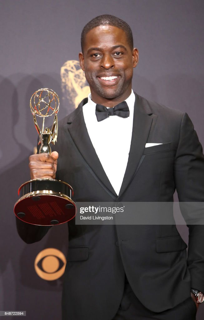 Actor Sterling K. Brown, winner of Outstanding Lead Actor in a Drama Series for 'This Is Us', poses in the press room during the 69th Annual Primetime Emmy Awards at Microsoft Theater on September 17, 2017 in Los Angeles, California.