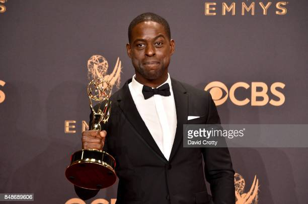 Actor Sterling K Brown winner of the award for Outstanding Lead Actor in a Drama Series for 'This Is Us' poses in the press room during the 69th...