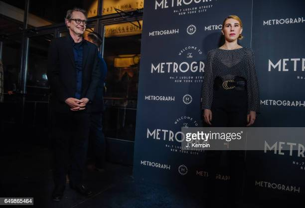 Actor Steve Buscemi and actress Zosia Mamet attend the Metrograph 1st year anniversary party at Metrograph on March 8 2017 in New York City