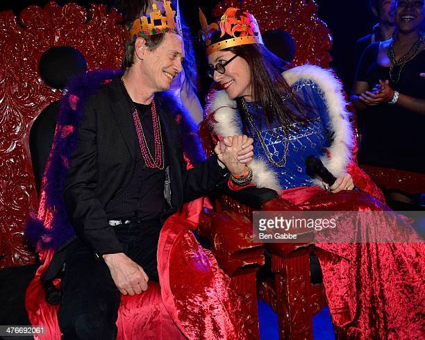 Actor Steve Buscemi and choreographer/filmmaker Jo Andres attend the fifth annual Two Boots Mardi Gras ball at Le Poisson Rouge on March 4 2014 in...