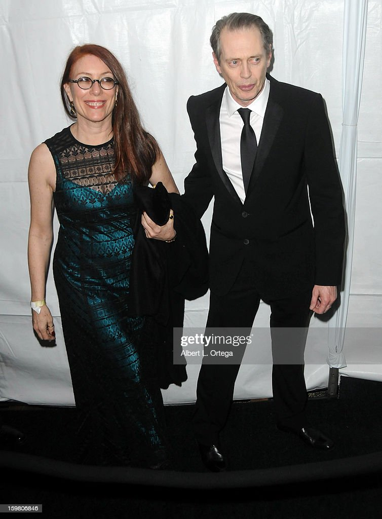 Actor Steve Buscemi and wife Jo Andres arrive for the Weinstein Company's 2013 Golden Globe Awards After Party - Arrivals on January 13, 2013 in Beverly Hills, California.
