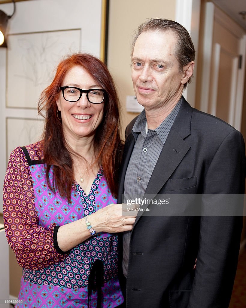 Actor <a gi-track='captionPersonalityLinkClicked' href=/galleries/search?phrase=Steve+Buscemi&family=editorial&specificpeople=207107 ng-click='$event.stopPropagation()'>Steve Buscemi</a> and wife JoAndres attends the HBO Luxury Lounge in honor of the 70th Annual Golden Globe Awards at Four Seasons Hotel Los Angeles at Beverly Hills on January 12, 2013 in Beverly Hills, California.